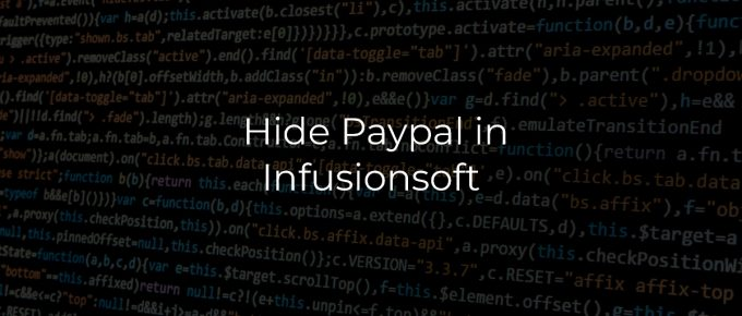 Hide Paypal in Infusionsoft