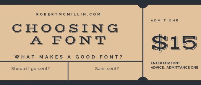 Choosing a good font